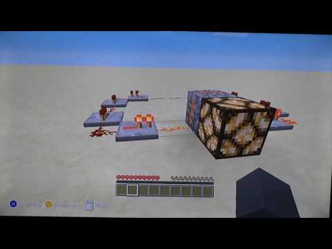 How to make a flashing redstone lamp | Minecraft