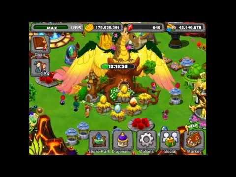 Dragonvale Breeding the harvest moon dragon + hatching! (brand new)