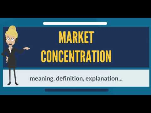 What is MARKET CONCENTRATION? What does MARKET CONCENTRATION mean?