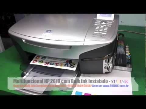 Multifuncional / Impressora HP 2610 com Bulk Ink Instalado - SULINK