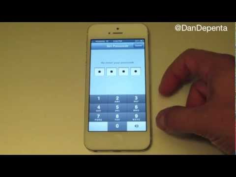 How To Password Protect iPhone 5 - Simple iPhone Pascode Lock
