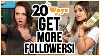 20 Ways to GET MORE FOLLOWERS - w/ Alexis G. Zall and Ayydubs