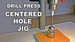 Drill Press Centering Jig For Round Objects