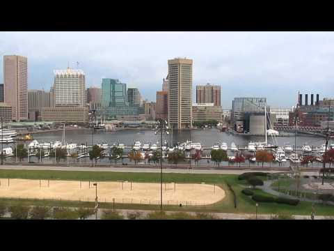 Baltimore Harbor, viewed from Federal Hill - October 2011