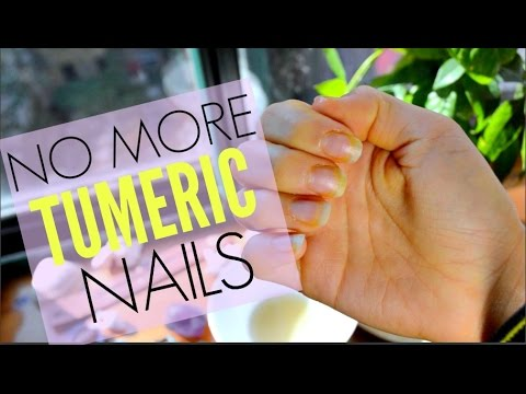 How To Get Turmeric Off Hands & Nails DIY 🖐🏼