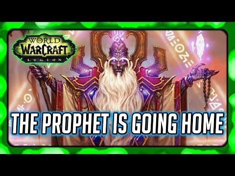 WOW Legion Story ► Prophet Velen is Going Home (Sorry, I missed a bit!)