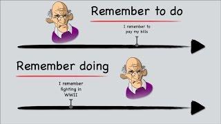 English Grammar: Gerunds & Infinitives; Remember