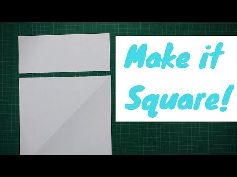 How to make A Square Out Of  Rectangle A4 Letter Paper