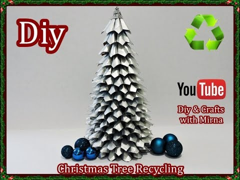 Diy How to make a Christmas tree recycling. Diy & Crafts with Mirna