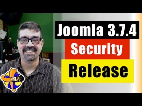 Live Bulletin - Joomla! 3.7.4 Security and Bug Fix released - Plus a how to update Joomla Tutorial.