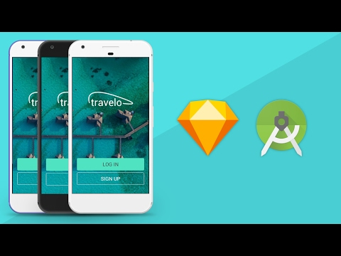Sketch App UI Design to Android XML Tutorial
