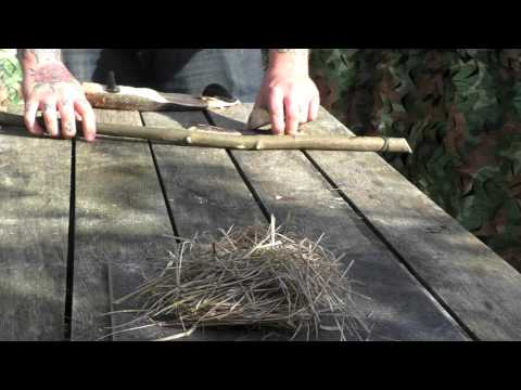 Bow Drill fire making demonstration
