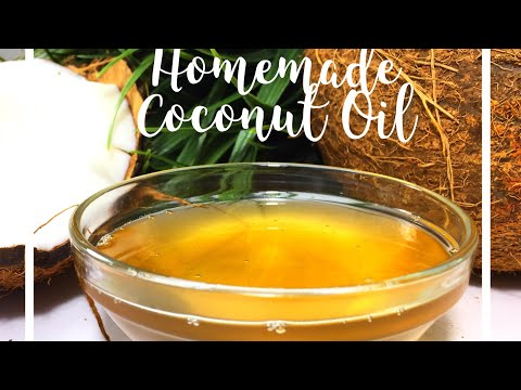 How to make Organic Coconut oil at home | Easy DIY Oil for Hair, Skin, Body