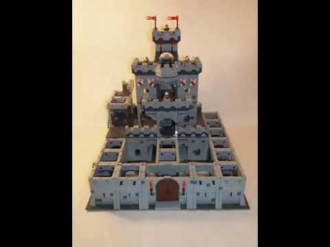 Time Lapse Build of a Lego Modular Castle