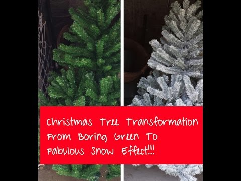 Frosted Christmas Tree (Christmas Tree Painting Tutorial)
