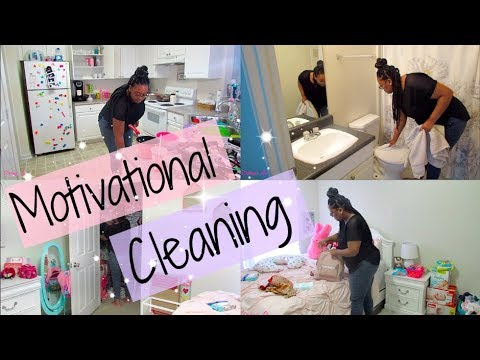 MOTIVATIONAL CLEANING ROUTINE | WATCH ME CLEAN | SPEED CLEANING | Destiny's Life
