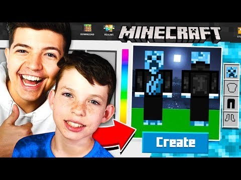 MAKING MY LITTLE BROTHER A MINECRAFT ACCOUNT!