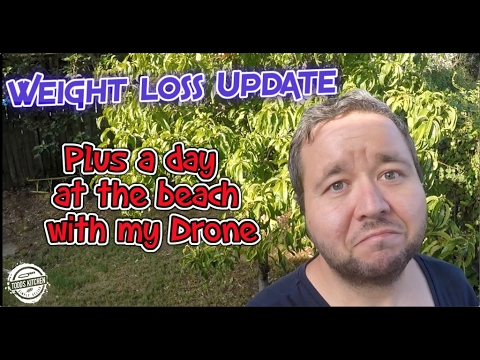 Weight loss Update & a day at the Beach with my Drone - Phantom 4 UHD 4K