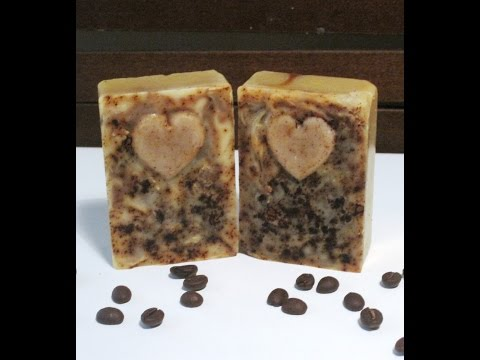 Making & Cutting All Natural Coffee Scrub Soap
