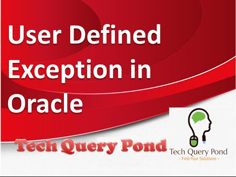 Oracle tutorial : User Defined Exception in Oracle PL SQL