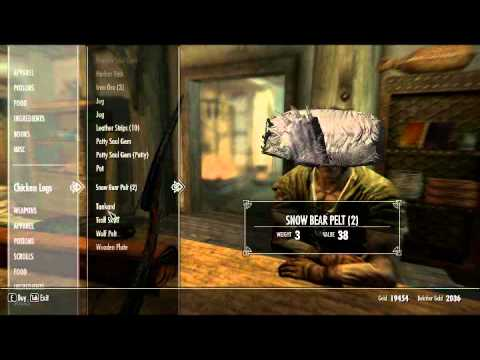 Skyrim - How to get everything for free from traders + Speech 100 (PC)