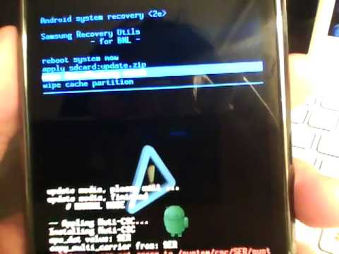 Samsung Galaxy S Clockwork Mod Recovery Mode & How to Fix Android SDK Error Tutorial
