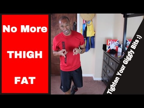 How To Lose Thigh Fat FAST! - Fat Burning Lower Body Workout