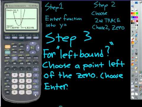 How to find zeros of a function on the graphing calculator
