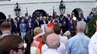 TigerNet.com - National Champion Clemson Tigers jersey presentation to Donald Trump