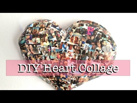 DIY Paper Mache Heart Collage (Wall Decor)