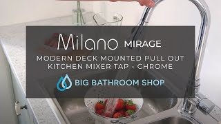 Milano Pull Out Kitchen Mixer Tap