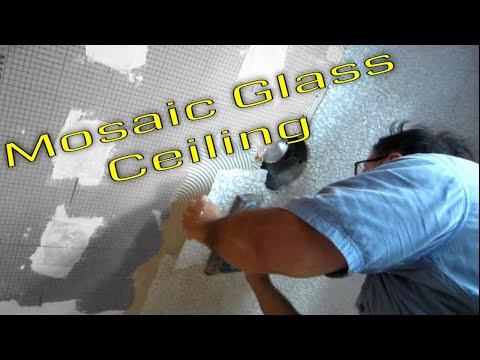 Steam Shower Part 1 Glass tile ceiling  Schluter Systems
