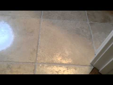 Travertine etch spot removal by Sir Grout