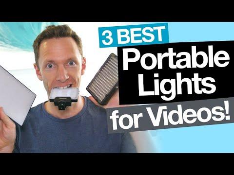 Best Portable Lighting for Video: 3 LED Video Lighting options under $50!