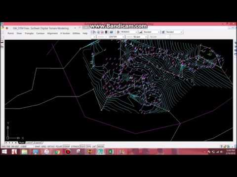 Topographic Map Plotting in Autocad | Traversing And Contouring | Sw-DTM |