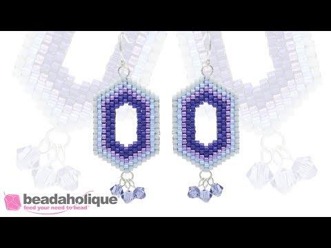 How to Bead Weave Ombre Window Earrings