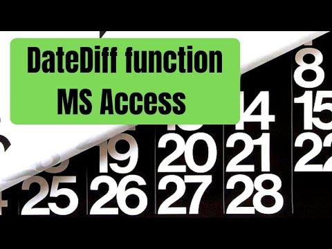 MS Access 2016 - DateDiff Function