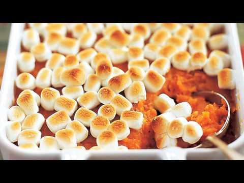 Thanksgiving SWEET POTATO Yam Casserole with Marshmallows
