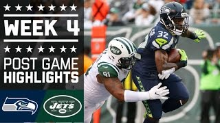 Seahawks vs. Jets | NFL Week 4 Game Highlights