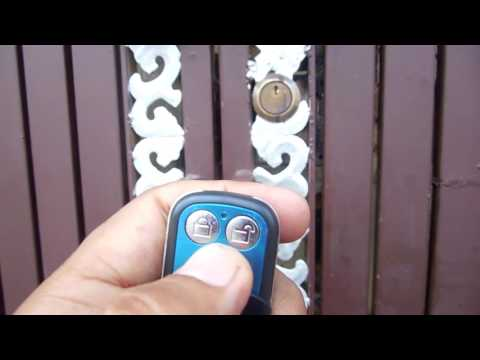 Electronic Lock with Remote Working on Gate live working video demonstration