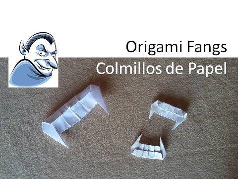 #Origami Fangs Dracula / Colmillos de Vampiro de Papel DIY