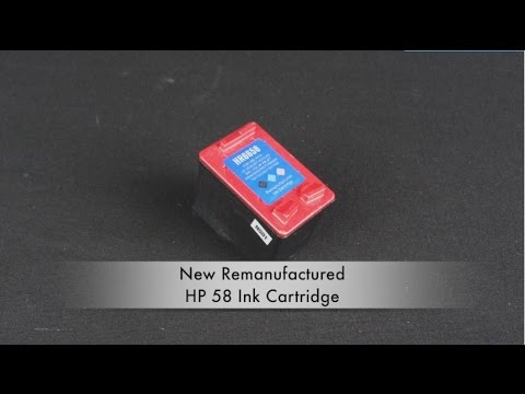 New Remanufactured HP 58 Ink Cartridge Instructional Video