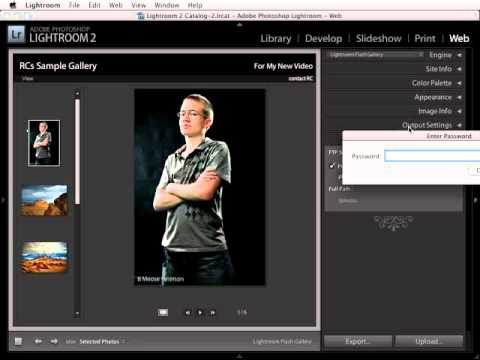 Lightroom 2: Publishing a web gallery to the internet using FTP