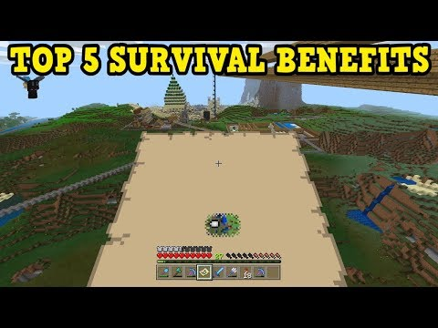 I LOVE THIS Minecraft Bedrock / PE SURVIVAL Feature