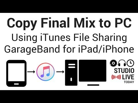Copy Final Mix to PC from GarageBand iOS 2.3 Using iTunes File Sharing (iOS 11)