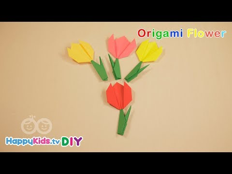 Origami Flower | Paper Crafts | Kid's Crafts and Activities | Happykids DIY