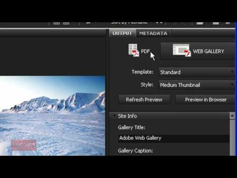 How To Create a PDF with Adobe Photoshop CS4   Bridge   Photoshop Tutorial 60 Seconds