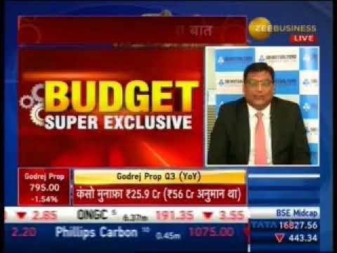 Navneet Munot - CIO, SBI Mutual Fund on Zee Business Budget 2018 on 2nd February, 2018