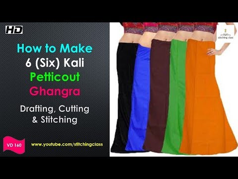 6 Panelled Petticoat- Cutting & Stitching, 6 Six Kali Petticout Cutting and Stitching