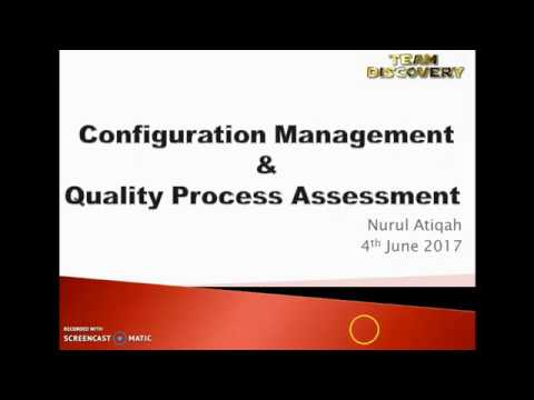 Configuration Management and Quality process assesment